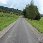 Droga Turza Góry (koło krzywej drogi) po